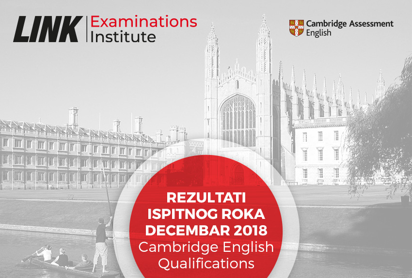 Rezultati ispitnog roka Decembar 2018 (Cambridge English Qualifications)