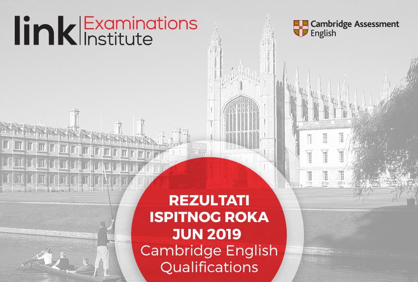 Rezultati ispitnog roka Jun 2019 (Cambridge English Qualifications)